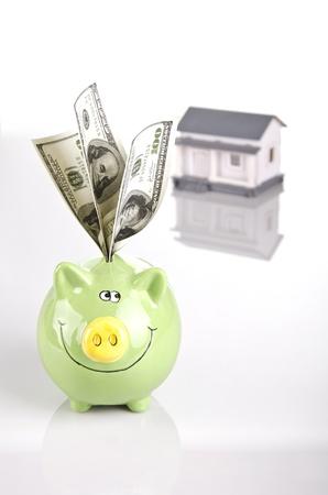saving money for a home Stock Photo