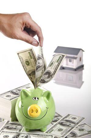 keep saving for your dreamed house Stock Photo