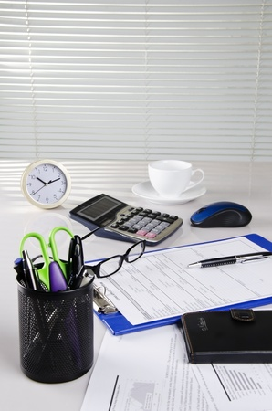 portrait of office material Stock Photo - 11861369