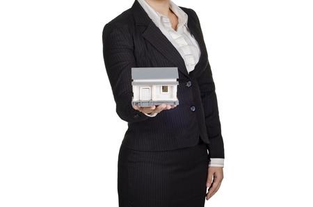 handover: a businesswoman handover a house