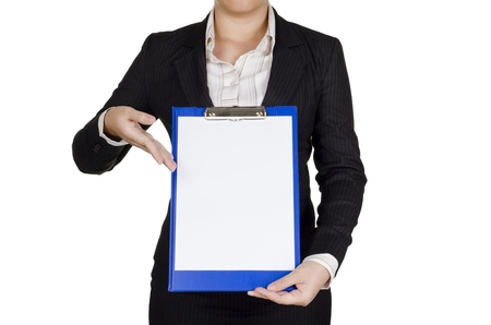 a businesswoman show her note Stock Photo - 12002726
