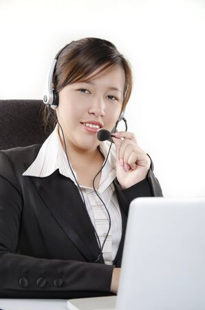 Pretty customer service at work Stock Photo - 14657115