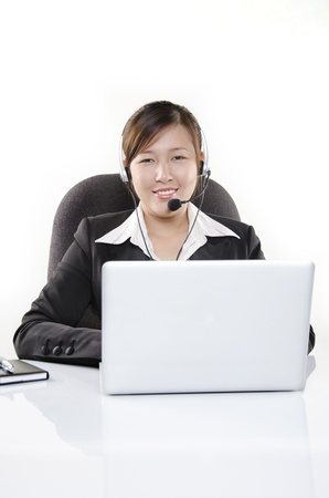 Friendly customer service in call center Stock Photo - 14657111