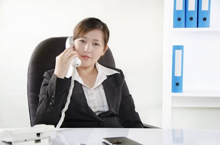 A business person talking on the phone Stock Photo - 14657149