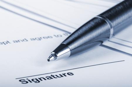 Contrat pour la signature Banque d'images - 18562872