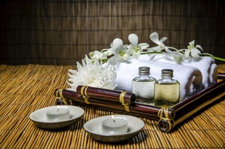 flame like: Closeup of spa and massage items