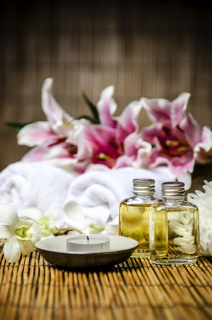 flame like: A set of spa and massage material Stock Photo