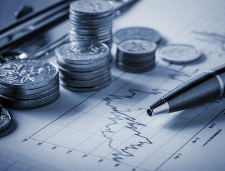 Beurs concept Stockfoto