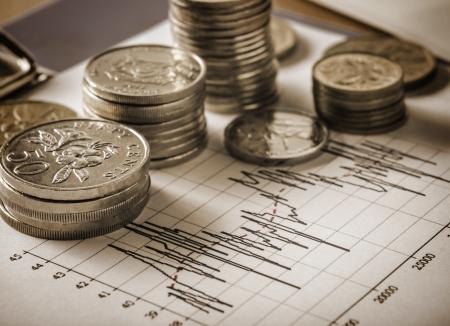 business concept of stock exchange Stock Photo