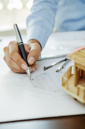 roofless: Reviewing drawing plan by architect