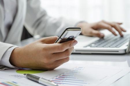 Texting message Standard-Bild