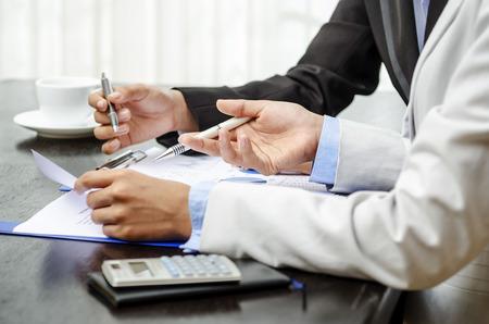White collar worker in office Standard-Bild