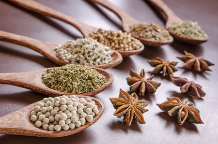 dill seed: white pepper, parsley, dry lavender, coriander seed, anise, dill seed and rosemary
