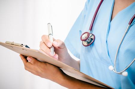 étudiant en médecine des patients d'informations d'enregistrement de train