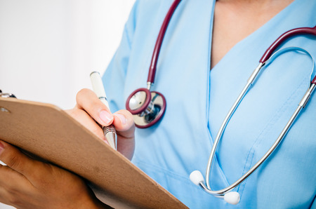 medical student: medical student train recording patients information