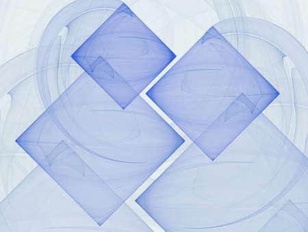 Multiple blue sheer tile fractal design over a slightly shaded blue background. Stock Photo - 4713603