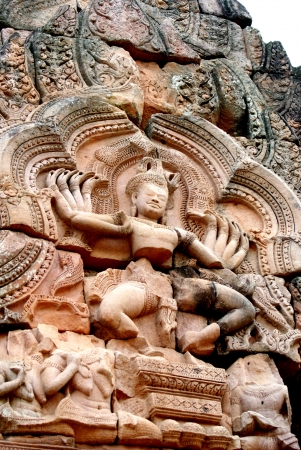 nataraja: Nataraja is a depiction of the god Shiva as the cosmic dancer at Phanom Rung Stone Castle in Thailand