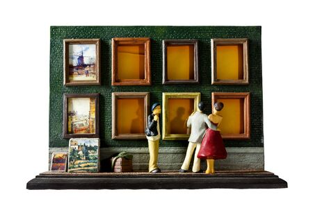 Lifestyle plaster frame is isolated.This frame is Described lifestyle of Artist photo