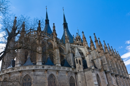 Gothic cathedral of St  Barbara in Kutna Hora, Czech Republic photo