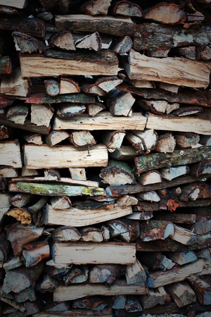 A pile of chopped firewood Stock Photo - 20432071