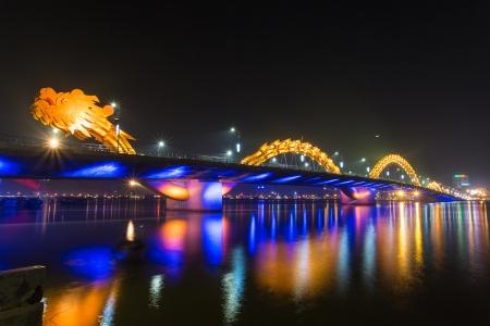 Dragon River Bridge ( Rong Bridge) in Da Nang, Vietnam Editorial