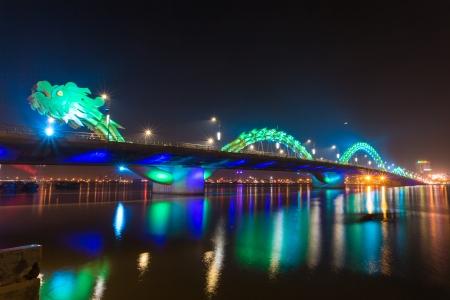 nang: Dragon River Bridge ( Rong Bridge) in Da Nang, Vietnam Editorial