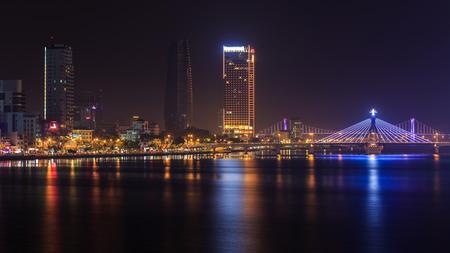 landscape nightview at Danang, Vietnam Imagens