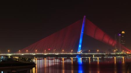 Landscape of Tran Thi Ly bridge in Danang, Vietnam