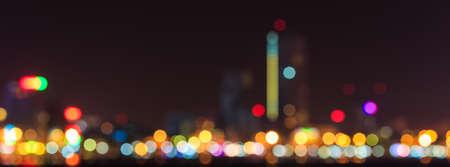 city lights: Blurred city lights with bokeh in Danang, Vietnam