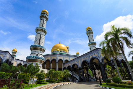 Jameasr Hassanil Bolkiah Mosque, Bandar Seri Begawan, Brunei, Southeast Asia Stock Photo