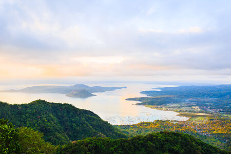 Taal Volcano in Philippines, the smallest volcano in the world photo