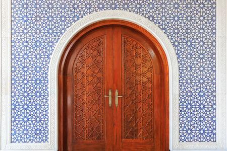 Star pattern of wooden door in Masjid, Brunei