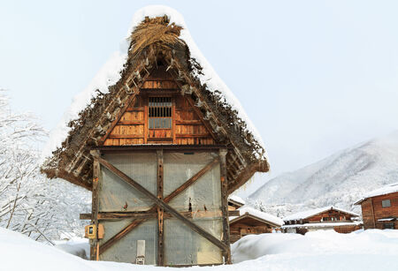gokayama: Historic Villages of Shirakawa-go and Gokayama winter, travel landmark in japan