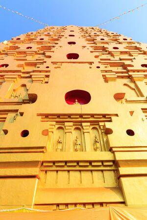 bodhgaya: Bodhgaya stupa at Wat wangvivagegaram, Sangkhla Buri Kanchanaburi, Thailand