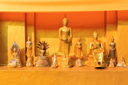 sangkhla buri: Buddha statue in Bodhgaya stupa at Wat wangvivagegaram, Sangkhla Buri Kanchanaburi, Thailand