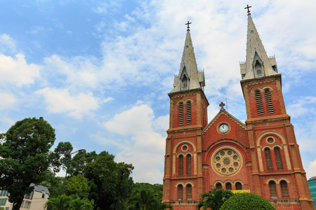 Notre Dame cathedral in Ho Chi Minh City, southern Vietnam