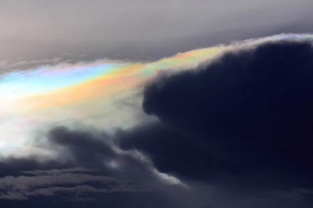 iridescent: iridescent pileus cloud rainbow clouds background