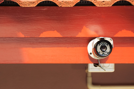 drop ceiling: Security camera or CCTV in home Stock Photo