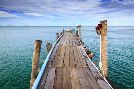 rayong: Wooden bridge on sea day time Koh Samet Rayong Thailand