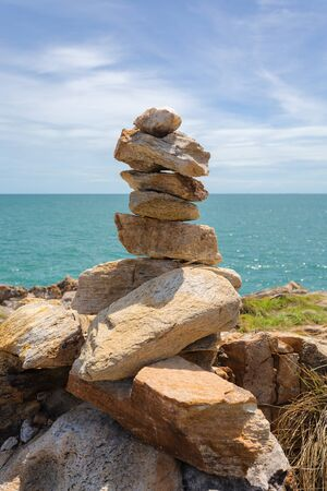 koh samet: Stack of stones on beach in Koh Samet, Rayong, Thailand