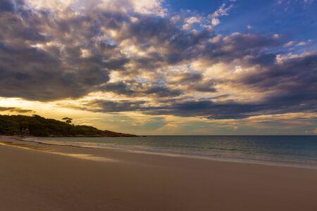 koh samet: Sai Kaew beach in sunrise time, koh samet island, Rayong, Thailand Stock Photo