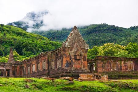 Vat Phou o sito Wat Phu in Champasak, Laos meridionale Archivio Fotografico - 43679392
