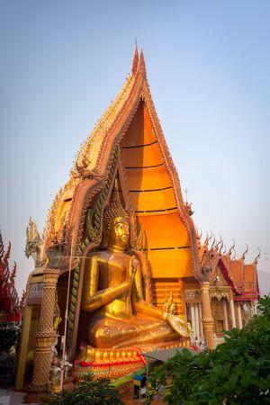 sua: Buddha statue in Wat Tham Sua temple, Kanchanaburi, Thailand