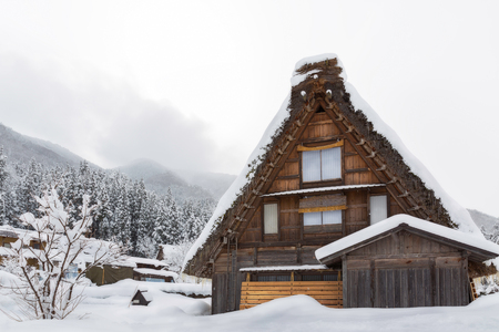 shirakawago: Historic Villages of Shirakawa-go and Gokayama winter, travel landmark in japan