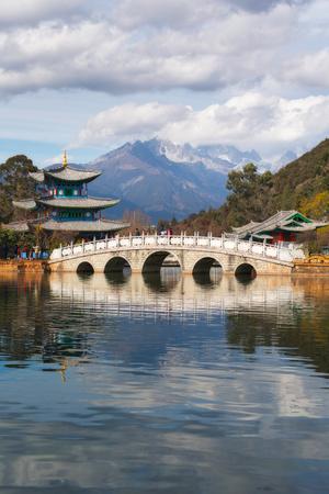 black and white dragon: Heillongtan, Black Dragon Pool in Lijiang, Yunnan province, China