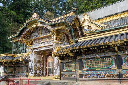 shinto: Toshogu Shinto shrine is renovation in Nikko, Japan