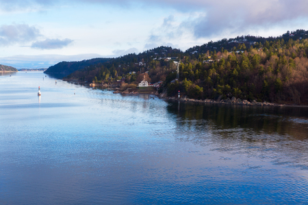 Landscape of Oslofjord in Baltic Sea at Oslo, Norway