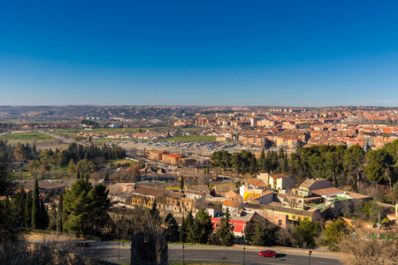 Landscape of Toledo city skyline, Old town in Spain Editorial