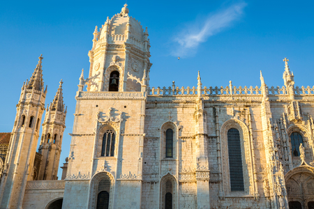 st: The Jeronimos Monastery or Hieronymites Monastery in Lisbon, Portugal