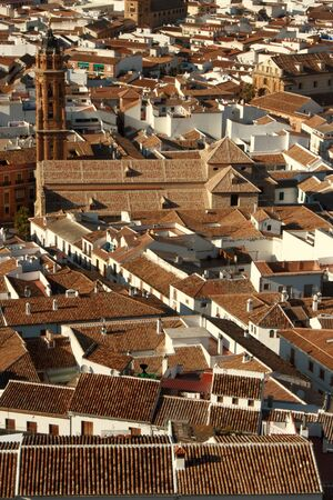 bird s eye: bird s eye view of Antequera Stock Photo